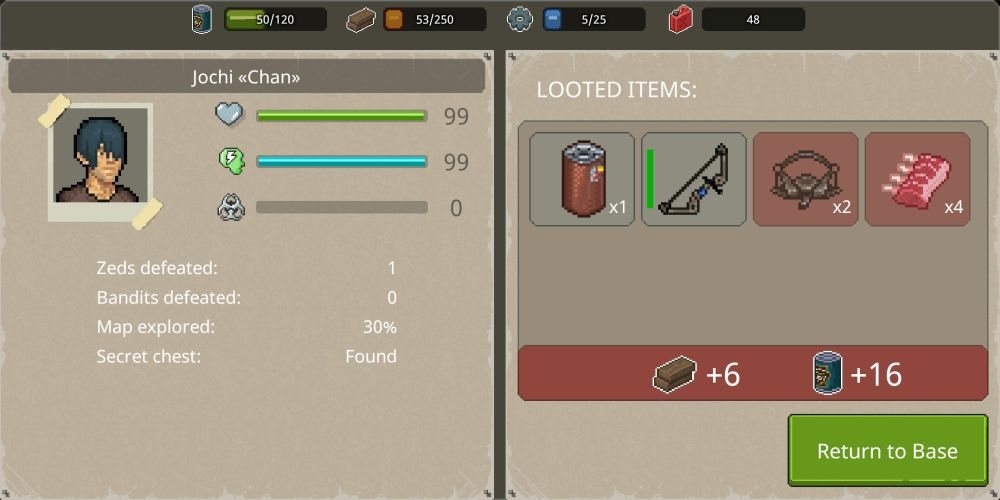 mini dayz 2 looted items