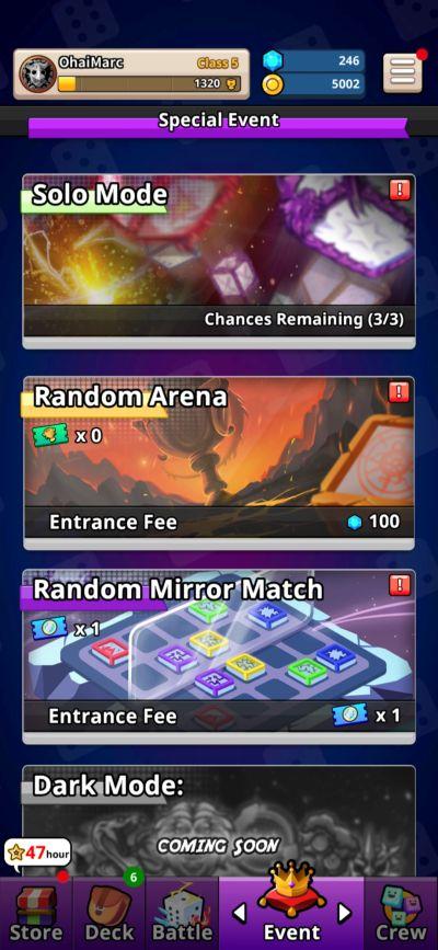 random dice modes
