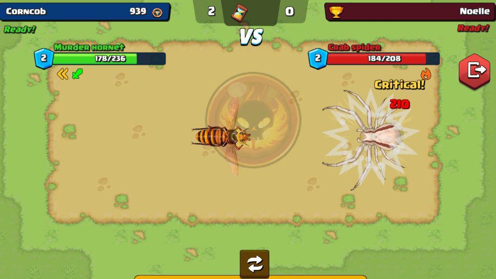 pocket bees bug fight