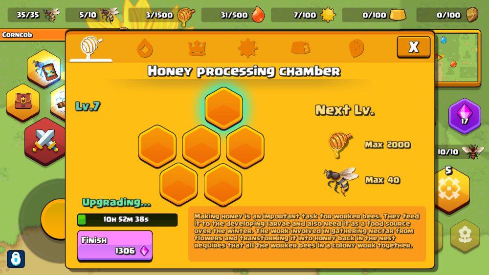 pocket bees honey chamber