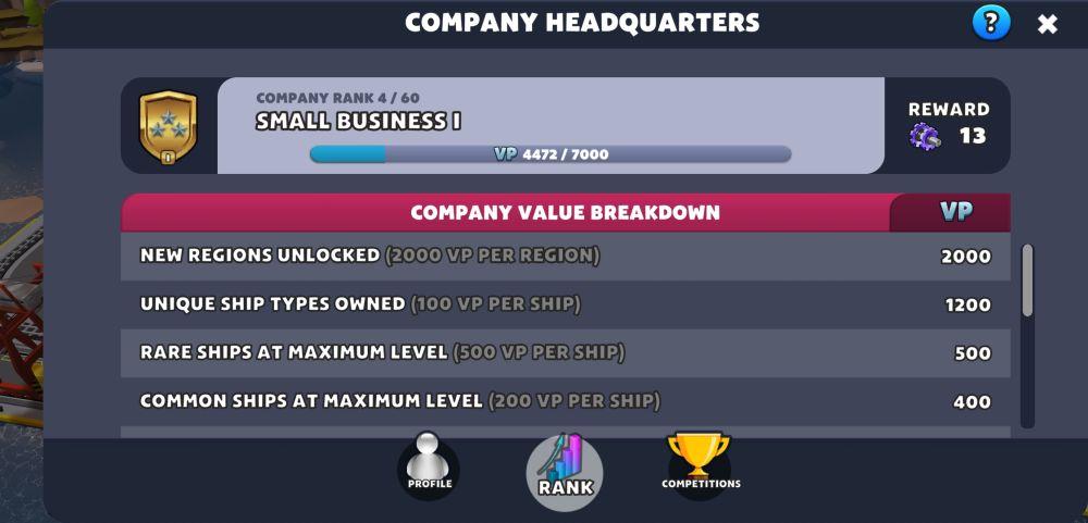 port city ship tycoon company hq
