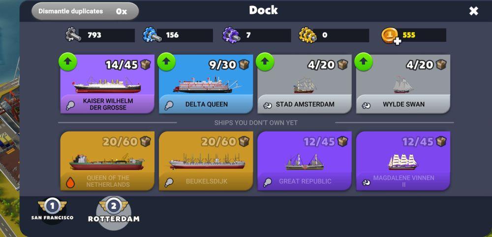 port city ship tycoon dock