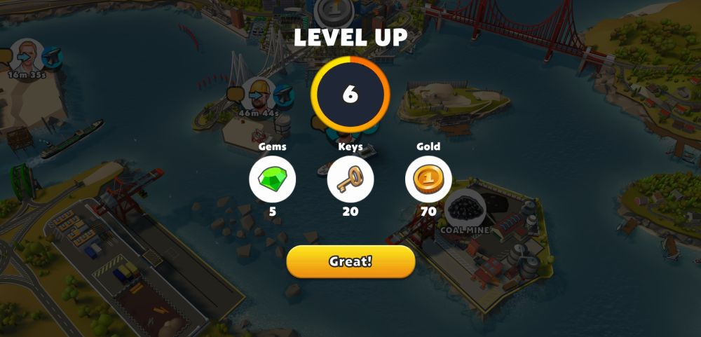 leveling up in port city ship tycoon