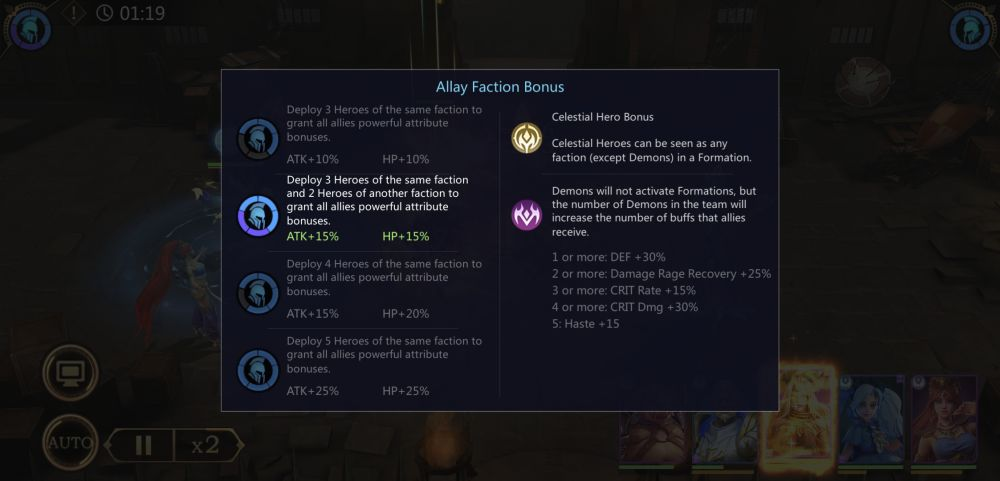 rage of destiny allay faction bonus
