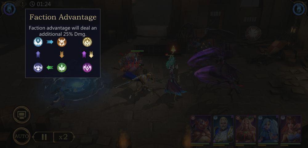 rage of destiny faction advantage