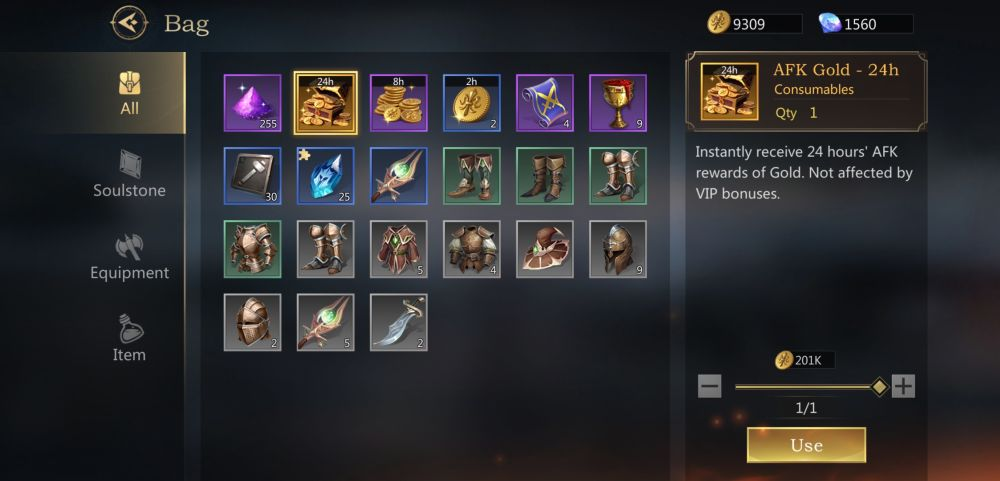 rage of destiny inventory