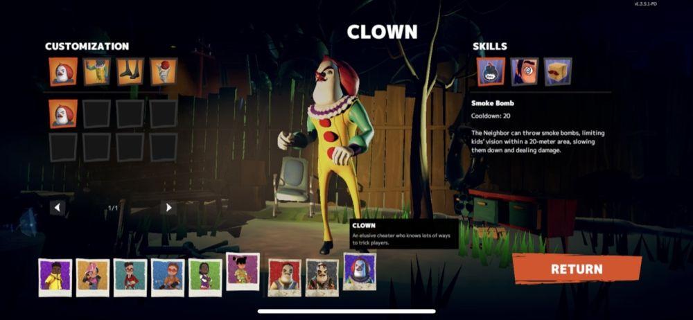 secret neighbor clown