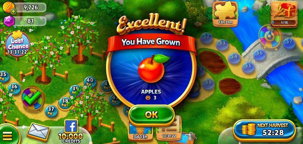 solitaire grand harvest apple