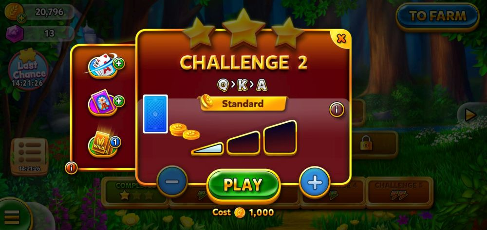 solitaire grand harvest challenge stage