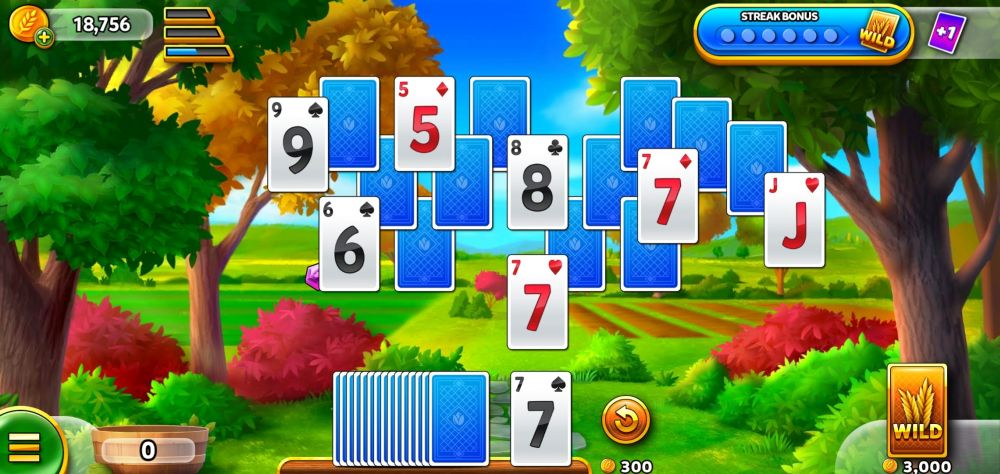 clearing cards in solitaire grand harvest