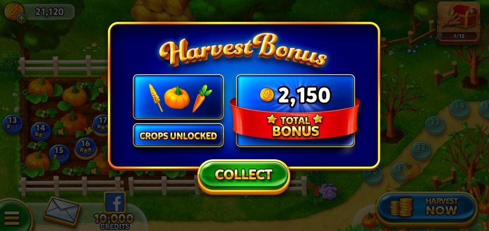 harvest bonus in solitaire grand harvest