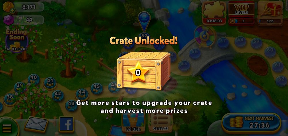 unlocking crate in solitaire grand harvest