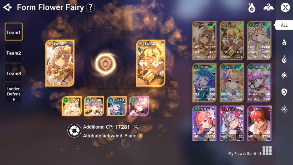 the legend of neverland form flower fairy