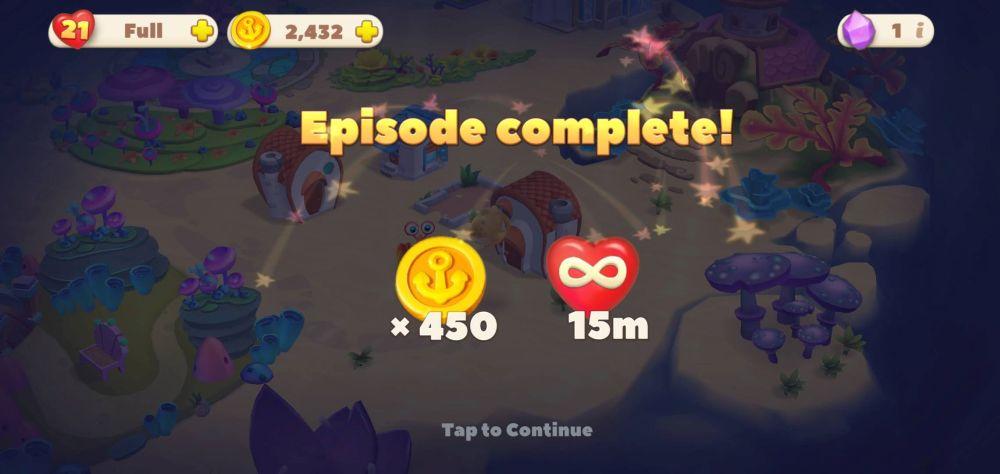 undersea solitaire tripeaks episode complete