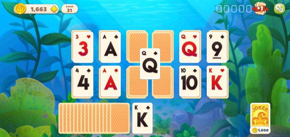 undersea solitaire tripeaks gameplay