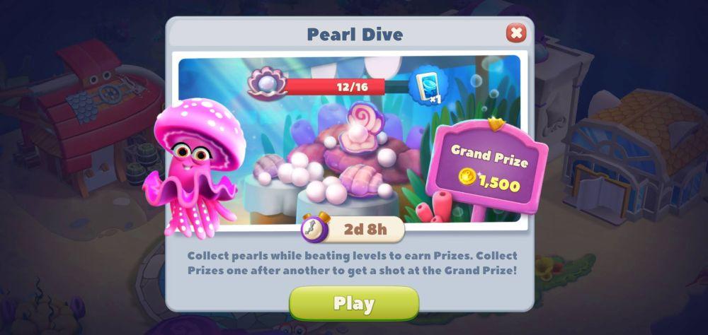 undersea solitaire tripeaks pearl dive