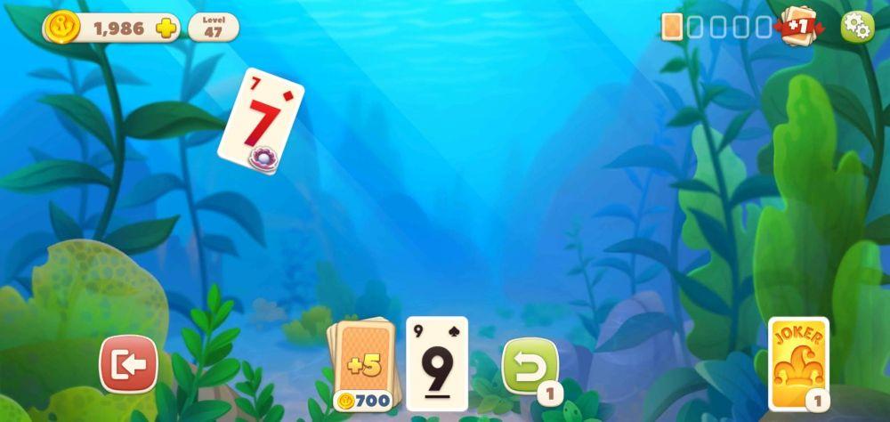 undersea solitaire tripeaks power-ups
