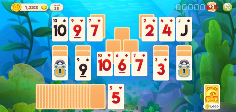undersea solitaire tripeaks the lock block