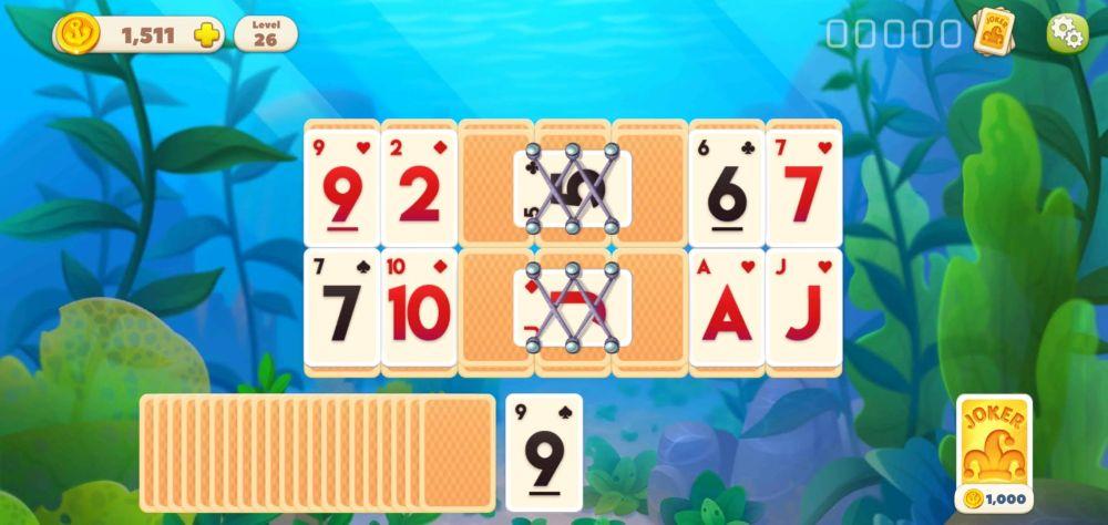 undersea solitaire tripeaks the net block