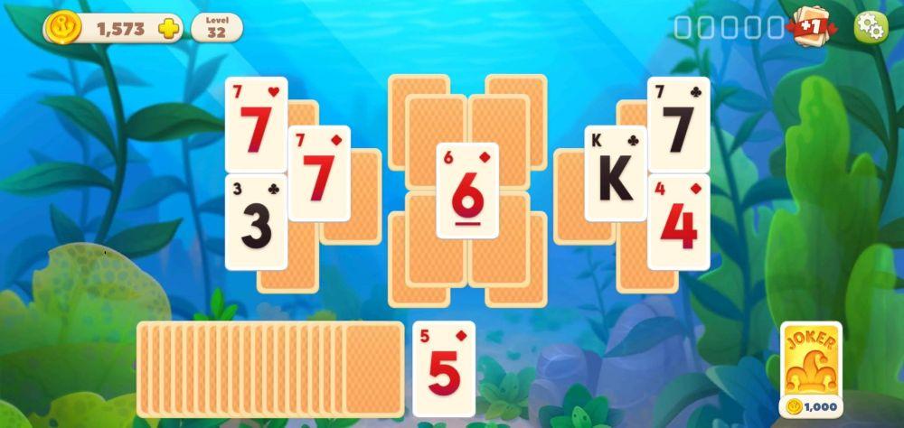 unlocking cards in undersea solitaire tripeaks