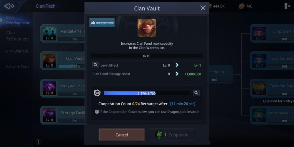 mir4 clan vault
