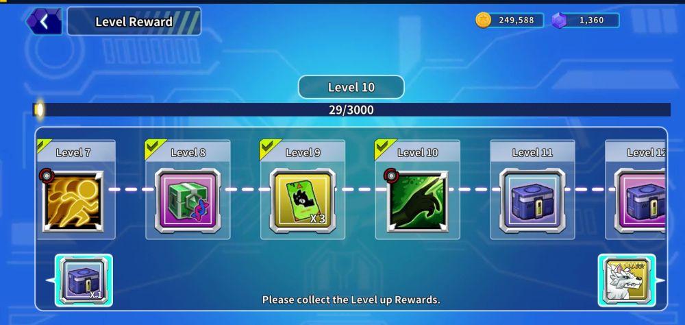 legendino level rewards