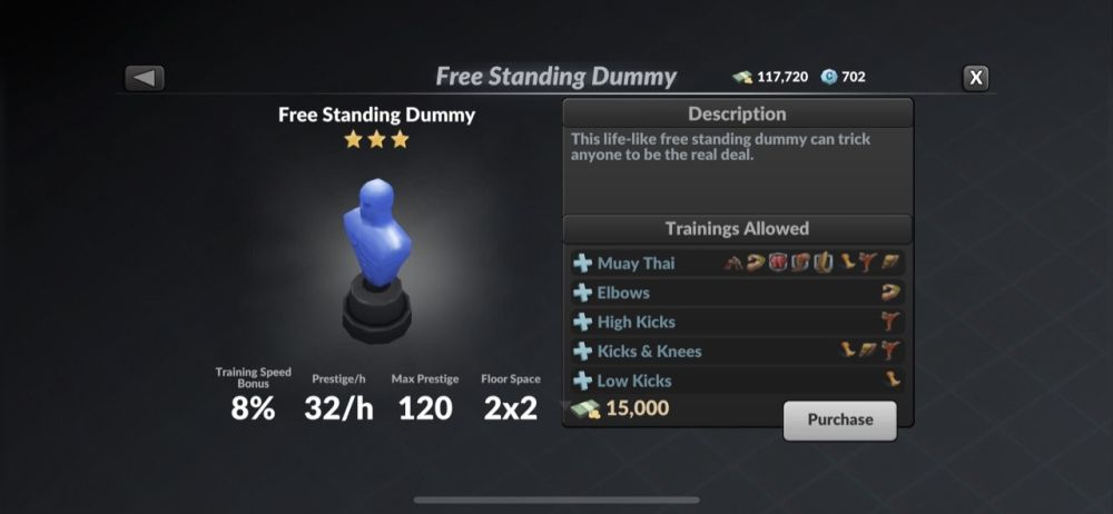 mma manager 2021 free standing dummy
