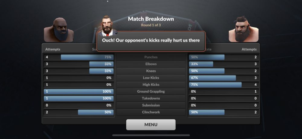 mma manager 2021 match breakdown