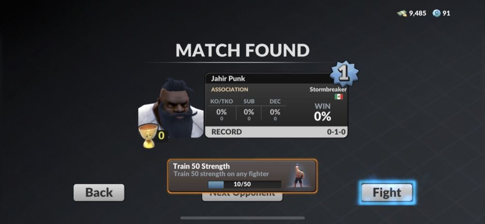 mma manager 2021 opponent