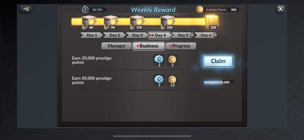 mma manager 2021 weekly reward
