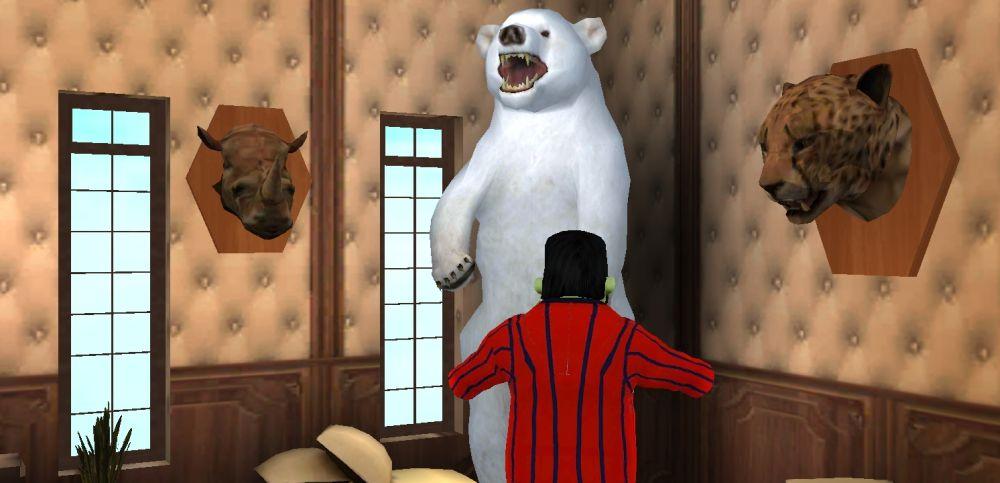 scary stranger 3d bear intro