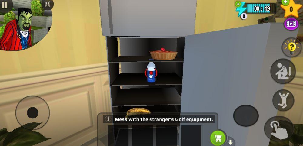 scary stranger 3d golf milk