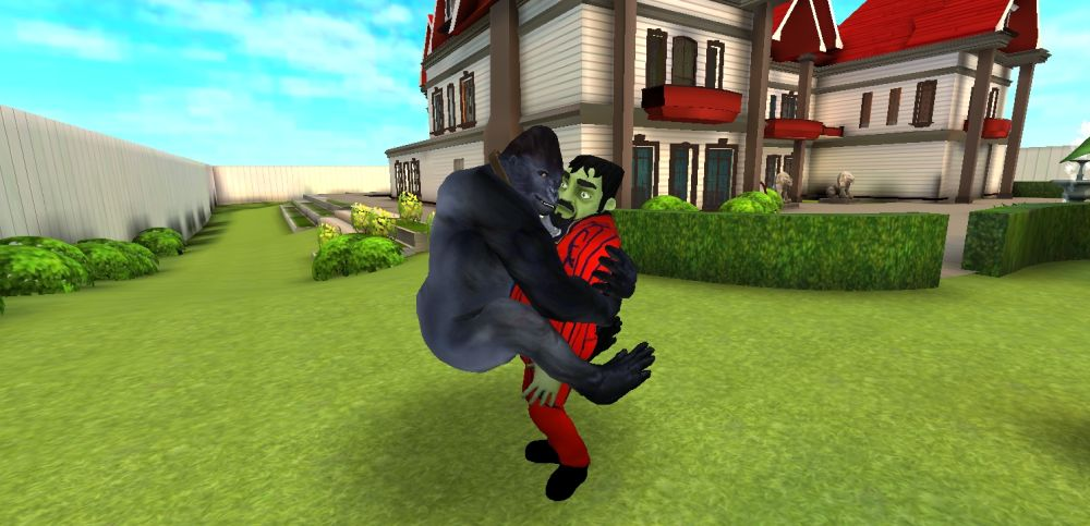 scary stranger 3d gorilla end