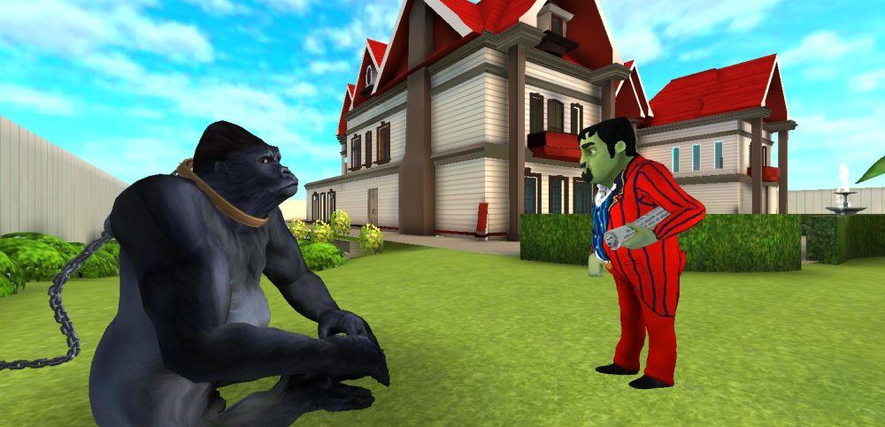scary stranger 3d gorilla start