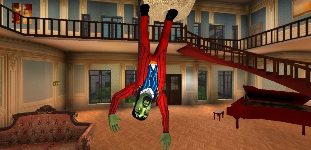 scary stranger 3d yank leg