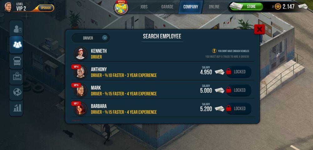 hiring drivers in truck simulator ultimate