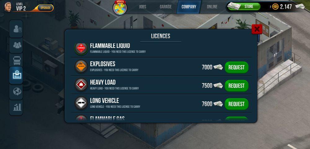 purchasing licenses in truck simulator ultimate