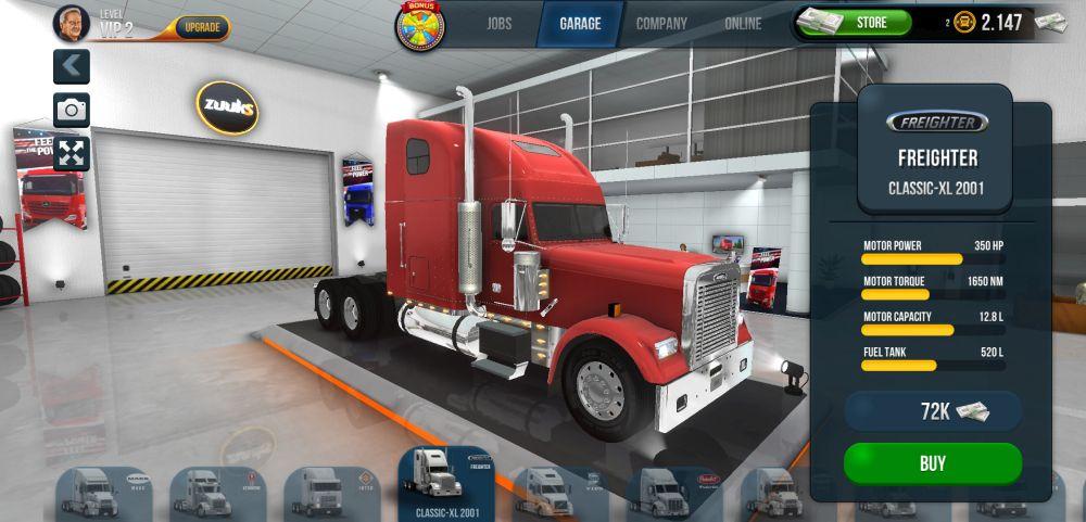 purchasing trucks in truck simulator ultimate