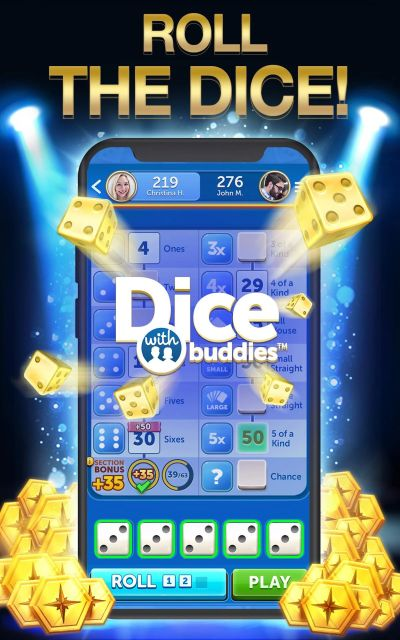 rolling the dice in dice with buddies