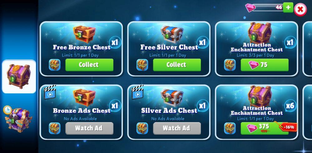 disney magic kingdoms chests