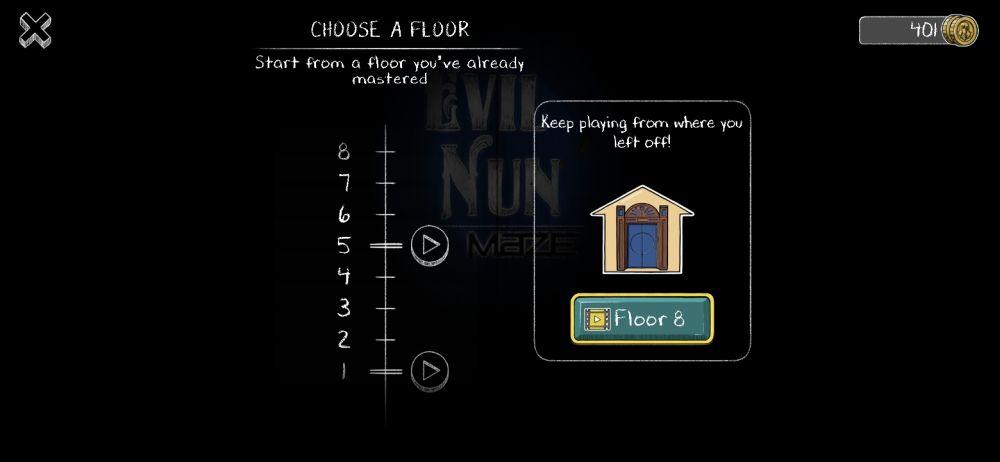 evil nun maze checkpoint