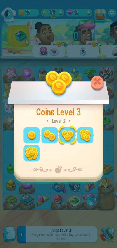 merging coins in love & pies