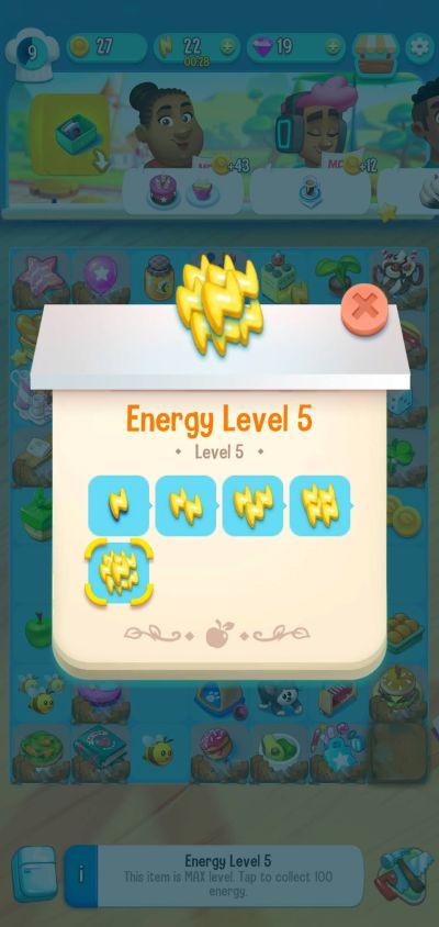 love & pies energy level