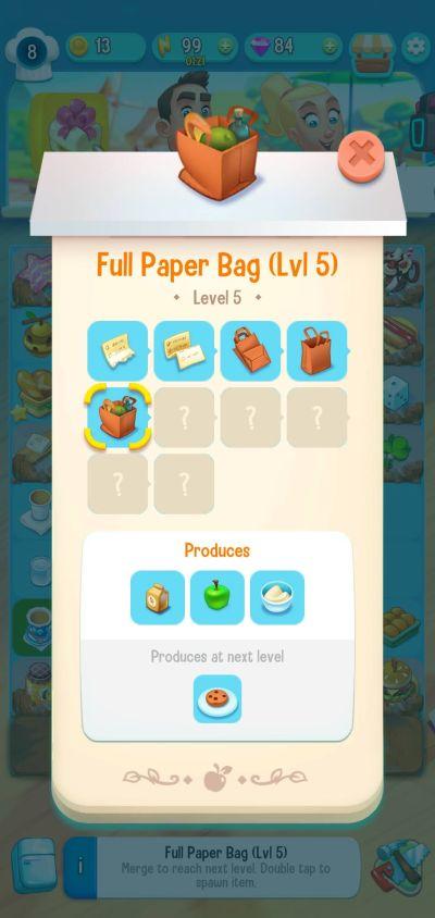 love & pies full paper bag