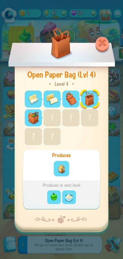 love & pies open paper bag
