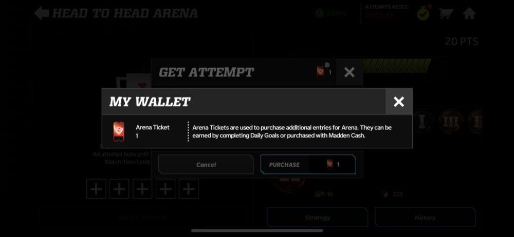 madden nfl 22 mobile arena ticket