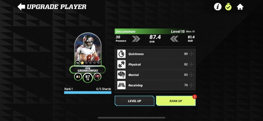 madden nfl 22 mobile player rank up