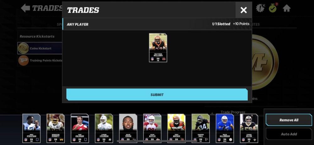 submitting trade in madden nfl 22 mobile
