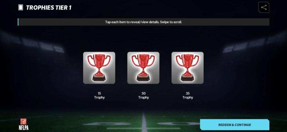 madden nfl 22 mobile trophies