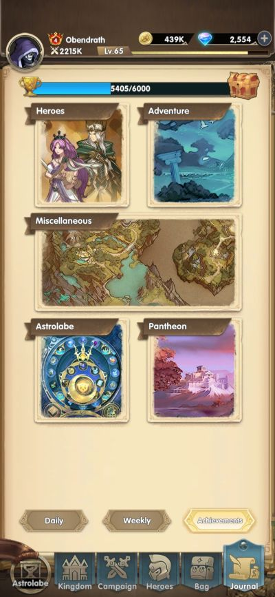mythic heroes achievements